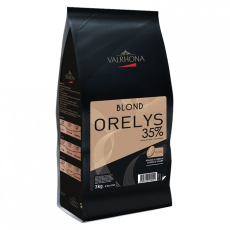 Orelys 35% blond chocolate with muscovado beans 3 kg