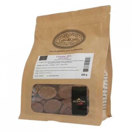 Orizaba 39% chocolat au lait de couverture Mariage de Grands Crus fèves 500 g