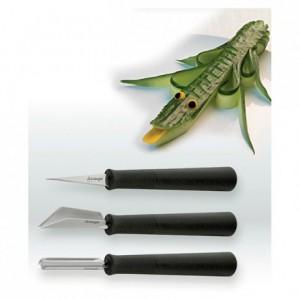 Outils à sculpter les légumes et les fruits (set de 3)