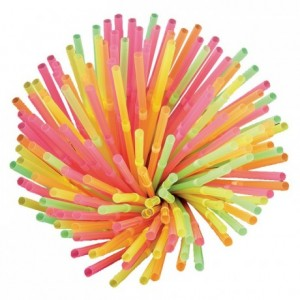Articulated straws neon (1000 pcs)
