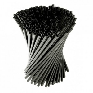 Articulated straws black (1000 pcs)