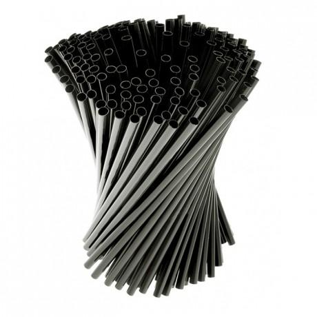 Articulated straws black (1000 pcs)