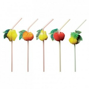 Flexible staws fruit (100 pcs)