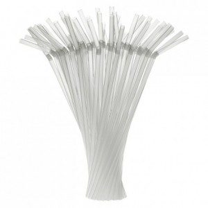 Articulated straws clear Ø 7 mm (250 pcs)