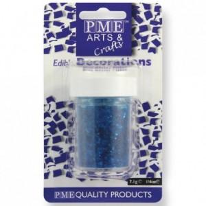 Paillettes alimentaires Glitter Flakes PME bleu 7 g