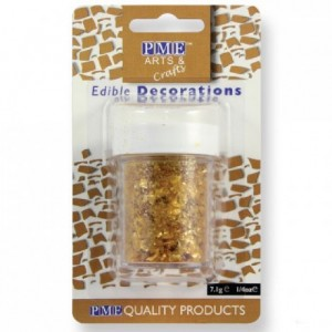Paillettes alimentaires Glitter Flakes PME or 7 g