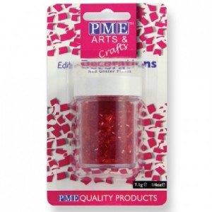 PME Glitter Flakes Red 7g