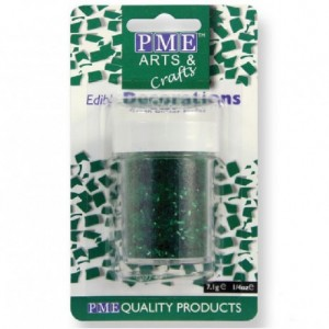 PME Glitter Flakes Green 7g