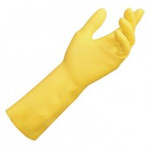 Paire de gants latex jaune taille 7/8