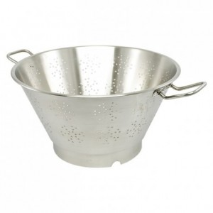 Conical colander hooped base stainless steel Ø 450 mm