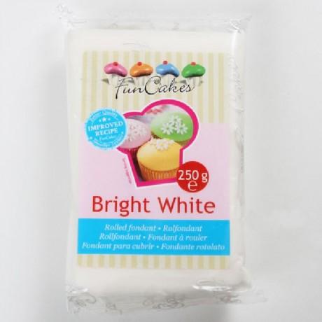 Pâte à sucre FunCakes blanc brillant 250 g