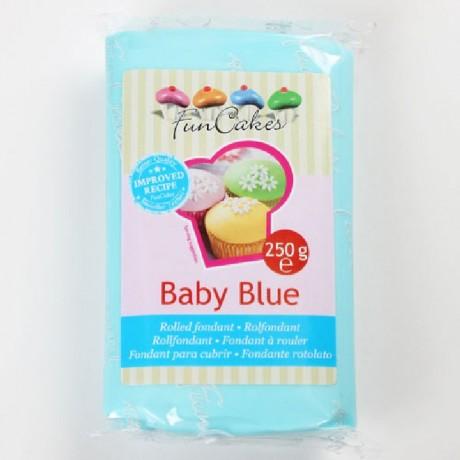 Pâte à sucre FunCakes bleue bébé 250 g