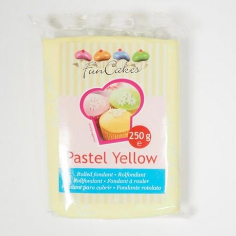 Pâte à sucre FunCakes jaune pastel 250 g