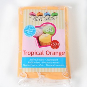 Pâte à sucre FunCakes orange tropical 250 g