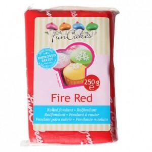 Pâte à sucre FunCakes rouge 250 g