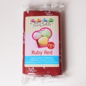 Pâte à sucre FunCakes rouge rubis 250 g