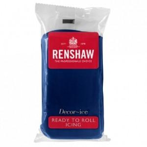Pâte à sucre Renshaw bleu marine 250 g