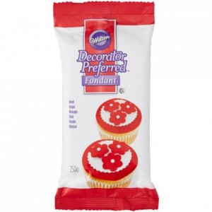 Pâte à sucre Wilton rouge 250 g