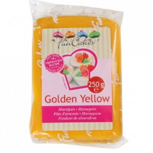 Pâte d'amande FunCakes jaune 250 g