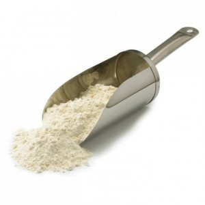 Flour scoop in stainless steel L 380 mm