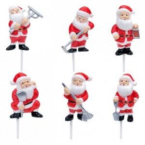 Plastic Santa Claus 48 units