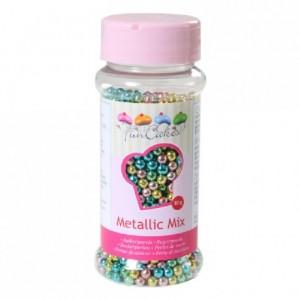 Perles de sucre FunCakes arlequin métallisé 80 g