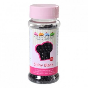 FunCakes Sugarpearls Shiny Black 80g
