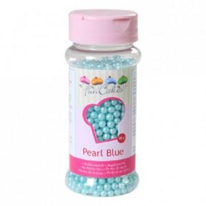 Perles de sucre FunCakes bleu perlé 80 g