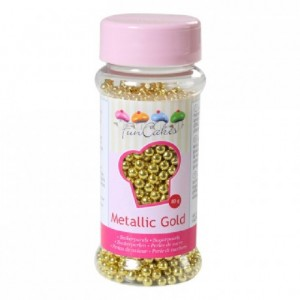 FunCakes Sugarpearls Metallic Gold 80g