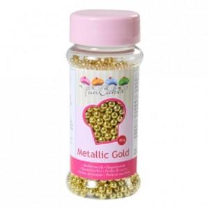 Perles de sucre FunCakes or métallisé 80 g