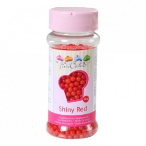 Perles de sucre FunCakes rouge brillant 80 g