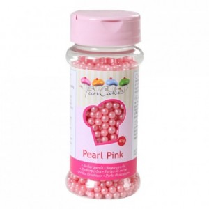 Perles de sucre FunCakes rose perlé 80 g