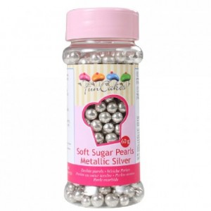 FunCakes Soft Pearls Metallic Silver 60g