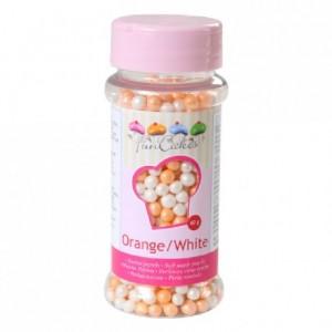 Perles tendres FunCakes orange et blanches 60 g