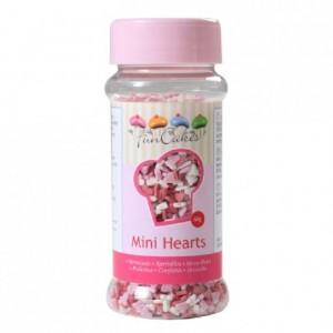 FunCakes Mini Hearts Pink White Red 60g