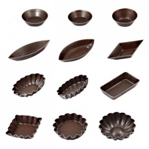 Petits-fours mould ribbed dome non stick Ø45 mm (pack of 12)