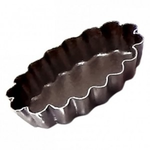 Petits-fours mould fluted oval non-stick L45 mm (pack of 12)
