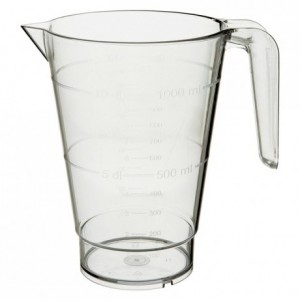 Gratuated pitcher 1 L polycarbonate