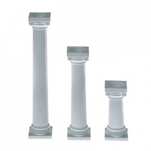 Piliers Wilton style grec 7,5 cm de hauteur (lot de 4)