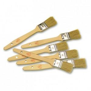 Pinceau plat avec manche en bois L 35 mm