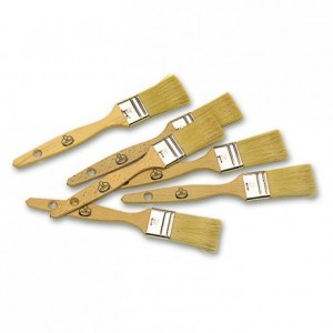 Flat brush wooden handle long bristles L 40 mm