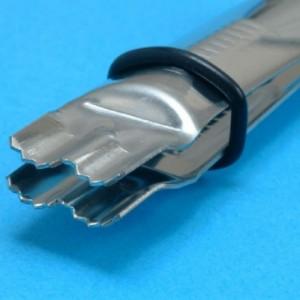 Pinces PME de marquage semi-arrondies à bords dentés
