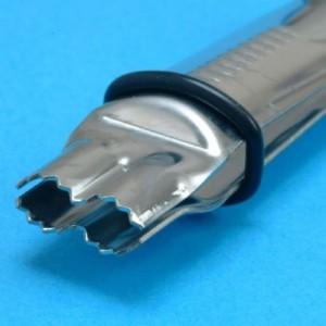 Pinces PME marquage semi-arrondies bords dentés 2 pièces