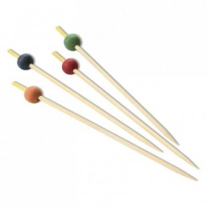 Bamboo picks with bead L 150 mm (200 pcs)