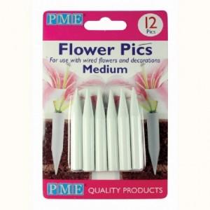 Piques pour fleurs moyens PME 12 pièces