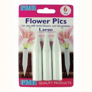 Piques pour fleurs larges PME 6 pièces