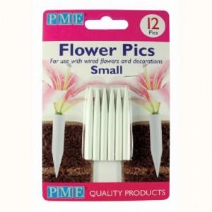 Piques pour fleurs petits PME 12 pièces