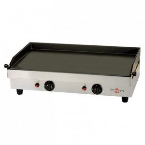 Gas plancha 2 heating zone