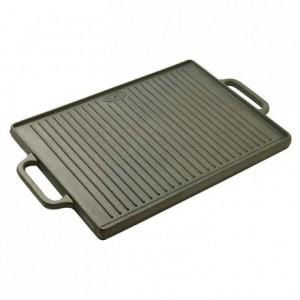 Plancha/grill réversible fonte 500 x 350 mm