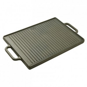 Reversible plancha/griddle cast iron 500 x 350 mm